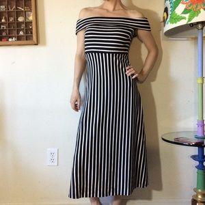 Banana Republic Dresses - Banana Republic Nautical Off the Shoulder Dress